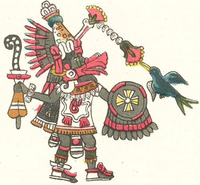 Бог мудрости ацтеков Кецалькоатль