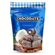 Финики с миндалем в шоколаде и кокосе Chocodate Exclusive Pouch Milk Coconut 100 гр, фото 1