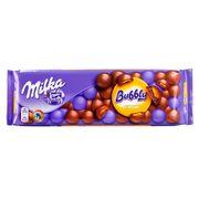 Большой воздушный молочный шоколад Milka Bubbly Caramel 250 гр, фото 1