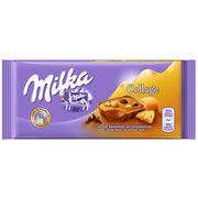 Молочный шоколад с печеньем и карамелью Milka Collage Karamell 93 гр, фото 1