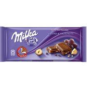 Молочный шоколад с изюмом и кусочками фундука Milka Raisins&Hazelnuts 100 гр, фото 1
