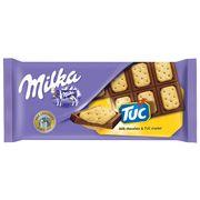 Молочный шоколад с крекерами Milka TUK 87 гр, фото 1