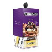 Финики с миндалём в ассорти шоколада Chocodate Exclusive Cube Box Assorted 200 гр, фото 1