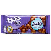 Воздушный молочный шоколад Milka Bubbly Alpine Milk 90 гр, фото 1