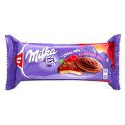 Бисквиты с малиновым джемом в шоколаде Milka Jaffa Raspberry 147 гр, фото 1