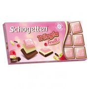 Шоколадная плитка Трилогия с малиной Брайт Schogetten 100 гр, фото 1