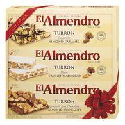 Ассорти 3 вида туррона в подарочной упаковке Gift Pack Turron El Almendro 225 гр, фото 1