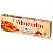 Хрустящий миндальный туррон с шоколадом Crocanti chocolate Turron El Almendro 75 гр, фото 1
