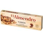 Хрустящий миндальный туррон с кунжутом Caramel Turron El Almendro 75 гр, фото 1