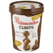 Кубики миндаль 30% и хрустящий рис с молочным шоколадом El Almendro 100 гр, фото 1
