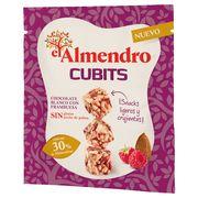 Кубики миндаль 30% и злаки с белым шоколадом и малиной El Almendro 35 гр, фото 1