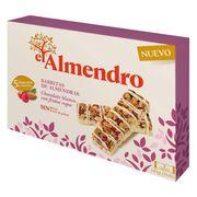 Ореховый батончик из миндаля и фундука с белым шоколадом и красными ягодами El Almendro 125 гр, фото 1