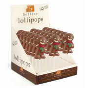Фигурный молочный шоколад на палочке Пряничный человечек Belfine 35 гр x 21 шт, фото 1