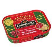 Сардины в оливковом масле экстра с перцем Эспелетт Connetable 115 гр, фото 1
