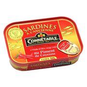 Сардины в оливковом масле-экстра с острым кайенским перцем Connetable 115 гр, фото 1
