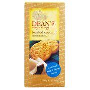 Сливочное печенье с кокосом Shortbread Roasted Coconut Dean's 160 гр, фото 1