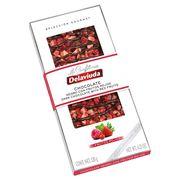 Горький шоколад с красными ягодами Delaviuda 130 гр, фото 1