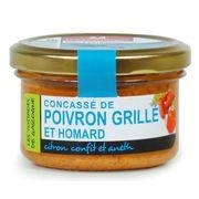 Конкассе из жареного перца с лобстером, лимонным конфи и укропом Ducs de Gascognе 90 гр, фото 1