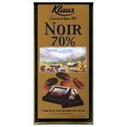 Шоколад горький 70% какао Klaus 100 гр, фото 1