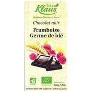 Шоколад темный с малиной и ростками пшеницы Био Klaus 100 гр, фото 1