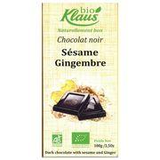 Шоколад темный с кунжутом и имбирем Био Klaus 100 гр, фото 1