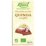 Шоколад молочный с суфле из киноа Био Klaus 100 гр, фото 1