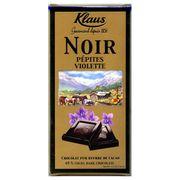 Шоколад горький с кусочками фиалки Klaus 100 гр, фото 1