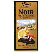 Шоколад горький с перцем и грейпфрутом Klaus 100 гр, фото 1
