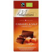 Молочный шоколад с карамелизированным фундуком и морской солью Maestrani 80 гр, фото 1