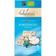 Белый шоколад с кокосом и кусочками какао-бобов Maestrani 80 гр, фото 1