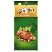 Молочный шоколад с обжаренным фундуком Munz 100 гр, фото 1
