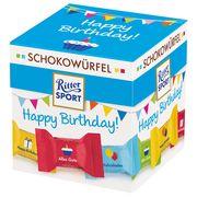 Подарочный набор шоколадных конфет с начинкой ассорти Happy Birthday Ritter Sport 176 гр, фото 1