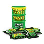 Самые кислые конфеты в мире леденцы Toxic Waste зеленая бочка 42 гр, фото 1