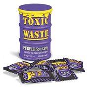Самые кислые конфеты в мире леденцы Toxic Waste фиолетовая бочка 42 гр, фото 1