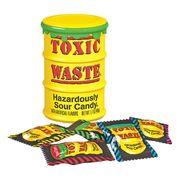 Самые кислые конфеты леденцы Toxic Waste желтая бочка 42 гр, фото 1