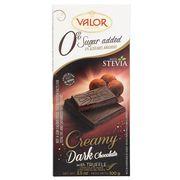 Темный шоколад с трюфельной начинкой без сахара Valor 100 гр, фото 1