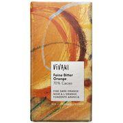 Шоколад органик горький с апельсиновым маслом Vivani 100 гр, фото 1