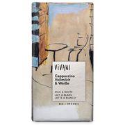 Шоколад органик молочный с кофейной начинкой и белым шоколадом Cappuccino Vivani 100 гр, фото 1