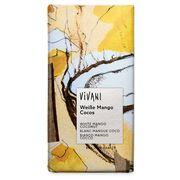 Шоколад органик белый с кусочками манго кокоса и йогуртом Vivani 80 гр, фото 1