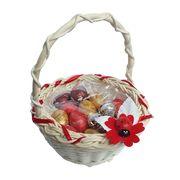 Шоколадные яйца в красивой корзине на Пасху La Suissa, фото 1