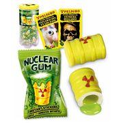 Жвачка с начинкой клубника лимон лайм и наклейкой Гигант Ядерный взрыв Fini 14 гр x 50 шт, фото 1