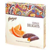 Мармелад в шоколаде Апельсин Веселые фрукты Goplana 190 гр, фото 1