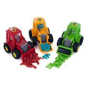 Игрушка Трактор и жевательная резинка Bubble Dozer Kidsmania 7 гр, фото 1