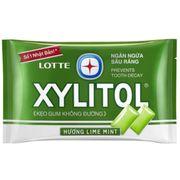 Жевательная резинка со вкусом лайма и мяты Lime Mint Xylitol Lotte 11,6 гр, фото 1