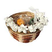 Пасхальная корзинка с шоколадными перепелиными яйцами с начинкой джандуйя Choco Delicia, фото 1