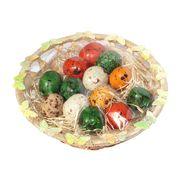 Пасхальная корзинка с шоколадными перепелиными яйцами с начинкой джандуйя Choco Delicia 150 гр, фото 1