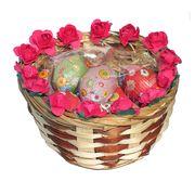 Подарочная пасхальная корзинка с шоколадными яйцами 2 La Suissa, фото 1
