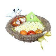 Свадебная корзина с конфетами Любовное гнездышко, фото 1