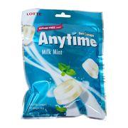 Леденцы с ксилитолом Молоко и Мята без сахара Milk Mint Anytime Lotte 74 гр, фото 1