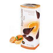 Шоколадные чипсы с апельсином Belgian Milk Chocolate Thins Orange 80 гр, фото 1